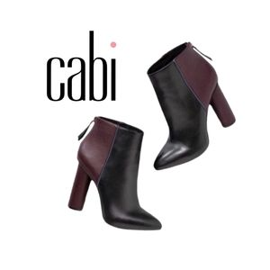 Cabi Real leather boots Black and Purple size7
